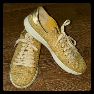 Cole Haan Grandpro Gold Walking Shoes 6.5